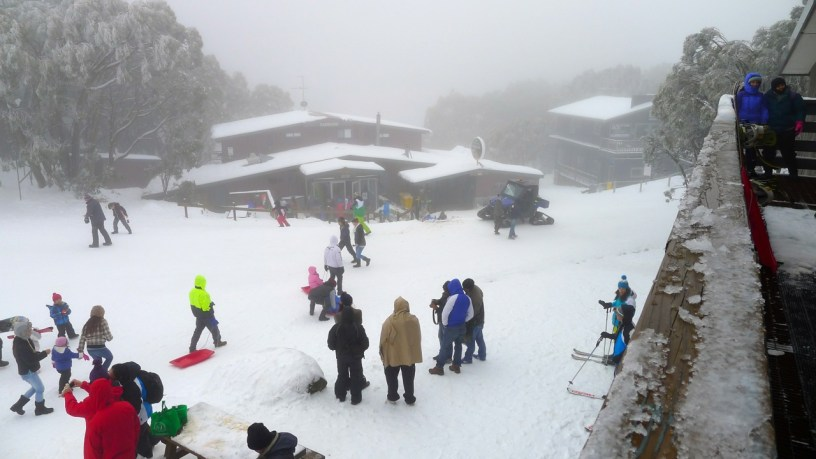 Looking down on the village from the Ski Hire shop veranda