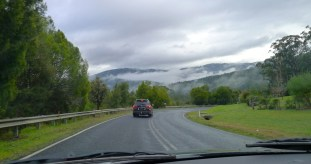 The clouds through the mountains added atmosphere to the drive