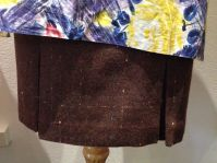Jean - Close-up of brown-multicoloured skirt