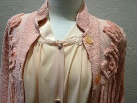 Jean - Close-up of top of pajamas & dressing gown