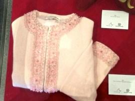 Joy - Pink 'Cotillion' beaded cardigan