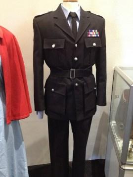 Lawson - Black police tie, black police belt, police shirt, 2 piece suite & belt with ribbons & epaulette badges