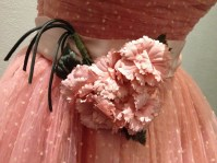 Mattie - Close-up of flowers attached to waist band on pink tulle dress