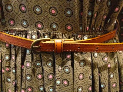 Nell Clasby - Close-up of dress pattern & belt