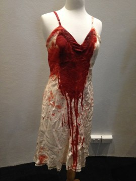 Virginia McKay - Cream 'bloodied' silk slip & cream 'bloodied' cami knickers