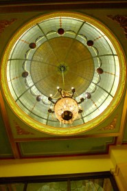 Ornate dome and light - Carrington Hotel