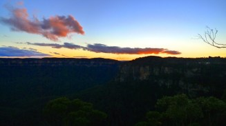 Sunset from Echo Point Lookout