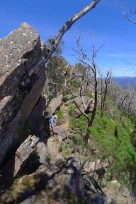 More rocks to negotiate along the Razorback Tack