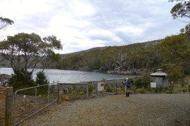 Arriving at Lake Fenton, part of Hobart's water supply