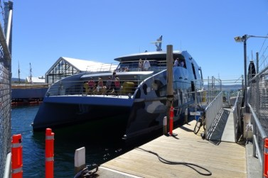 MONA Roma MR-1 ready to depart Constitution Dock on a sunny day