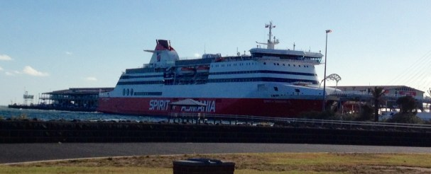Spirit of Tasmania docked at Port Melbourne