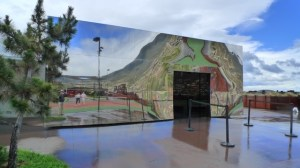 The mirrored front of MONA - reflections on the outside, reflections within