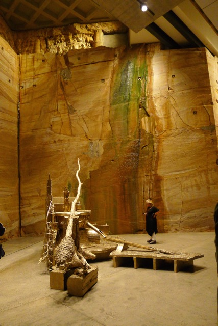 The sandstone wall was already the most 'alive' and dynamic (non)exhibit at MONA