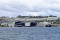 We pass the Incat shipyard where the MONA Roma MR-1 was made. That cat is a LOT bigger!