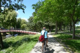 Riding around Hagley Park by the River Avon