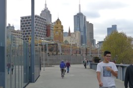 Flinders Street Station is very distinctive - whatever the angle of your approach
