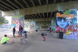 Very good graffiti beneath Graham St overpass (I think)