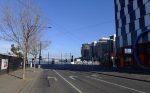 Approaching corner of Latrobe St & Harbour Esplanade