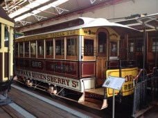 Cable Tram Trailer 256 - built in 1887 and ran on the Toorak route