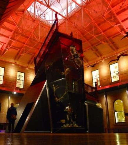 TMAG's Central Gallery bathed in red for Dark Mofo