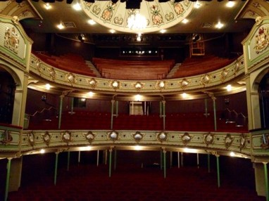 View from the stage of Hobart's Theatre Royal on Campbell Street