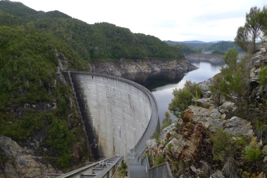 You can walk down to the Gordon Dam wall - the water level seemed pretty low to us