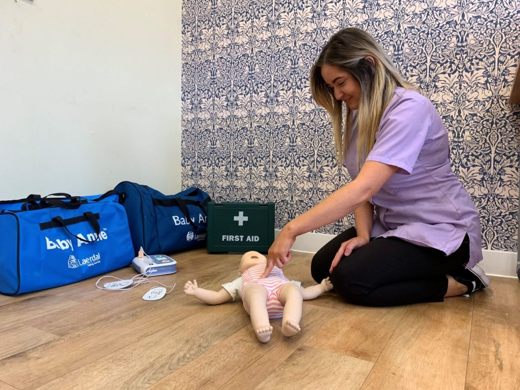 Paediatric first aid training with University of Birmingham Day Nurseries