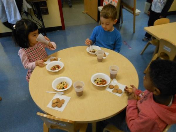 Preschool Eating Snack Time