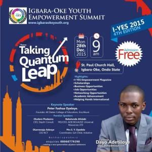 WELCOME TO IGBARA-OKE YOUTH EMPOWERMENT SUMMIT 2015
