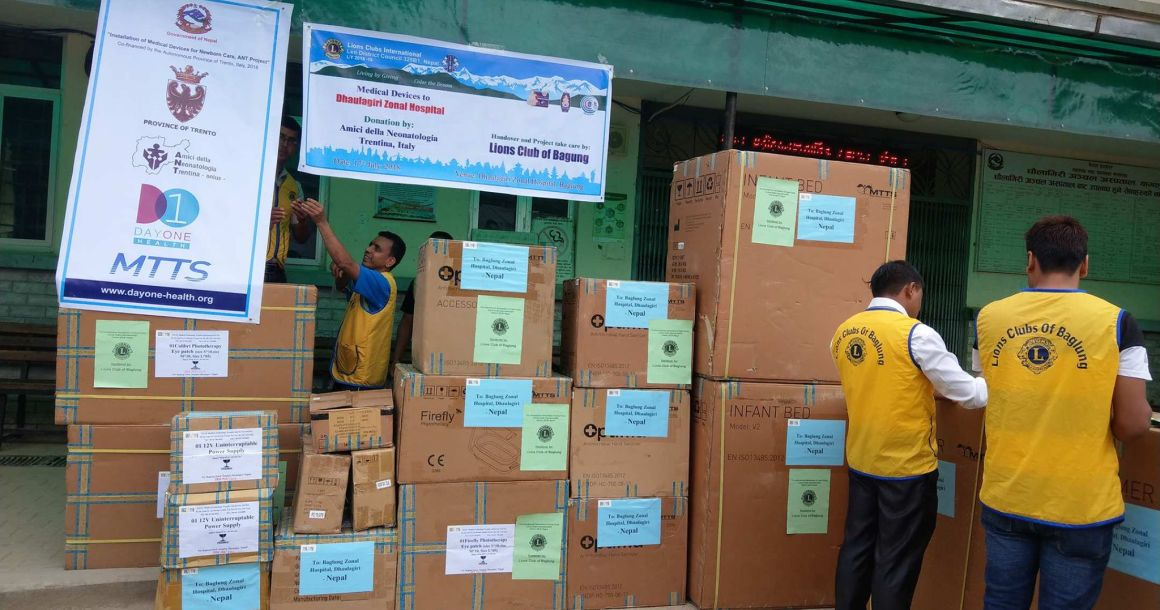 Newborn Care Medical equipment handed over to Nepal Government Hospitals