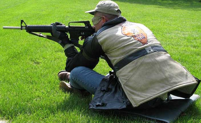 Sitting Rifle Shooting Position