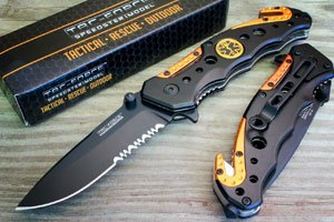 TAC-FORCE EMT EMS ORANGE Rescue Knife