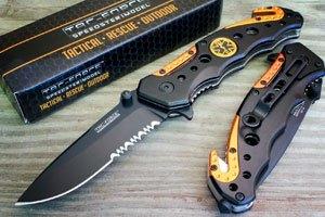 TAC-FORCE EMT EMS ORANGE Rescue Knife