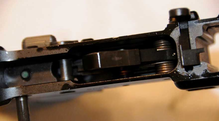 inside rifle cleaning