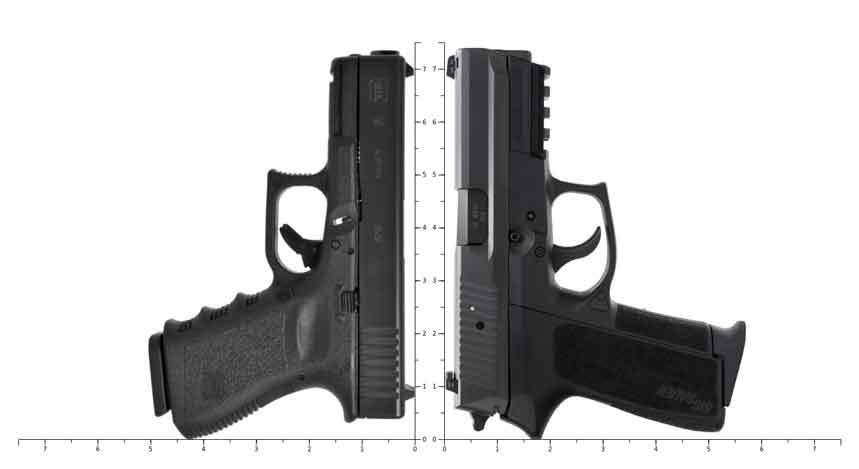 Sig sp2022 VS Glock 19 Size Comparison
