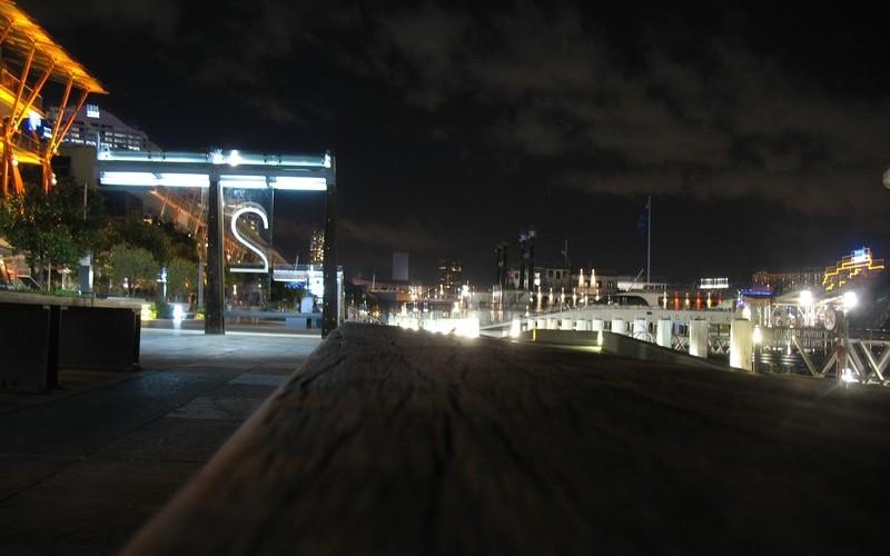 悉尼Darling Harbour的晚上