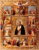 Преподобный Серафим Саровский с 12 клеймами жития