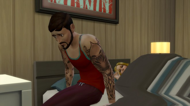 Andre feeling depressed about drifting love.