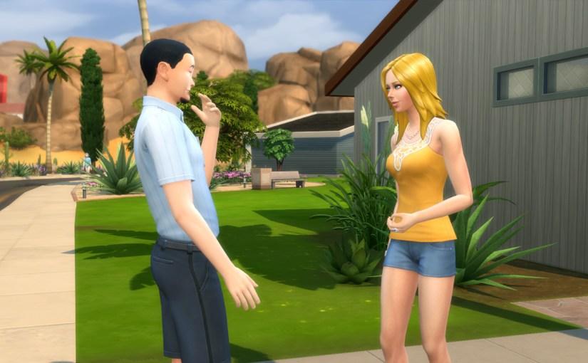 Babs L'Amour flirts with mailman Otto Lilard.