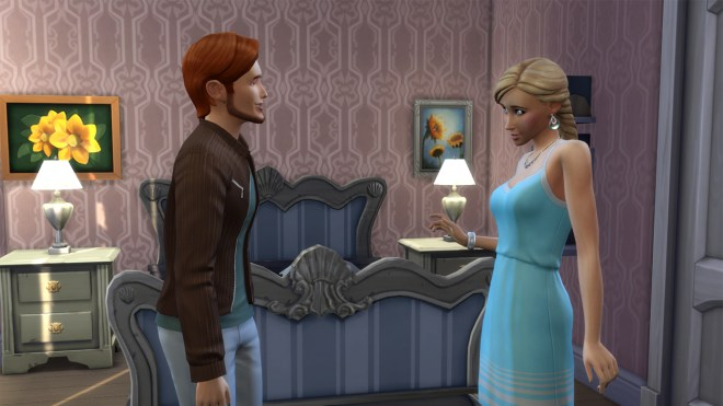 Randall Wood and Summer Holiday flirting at her birthday party.