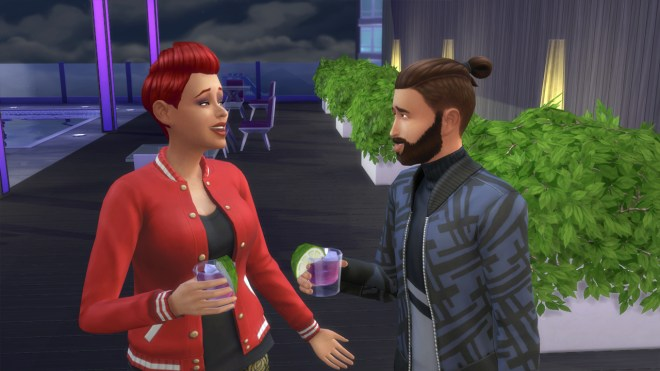 Cassidy Purdue goes on a date with Salim Benali at Stargazer Lounge in San Myshuno.