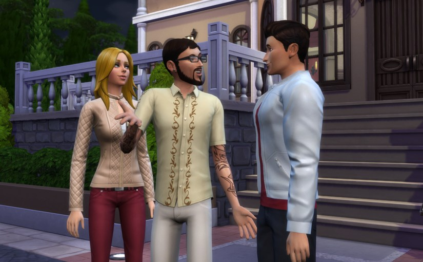 Babs L'Amour, Andre DaSilva and J Huntington III attend a dance party at the Von Haunt Estate.