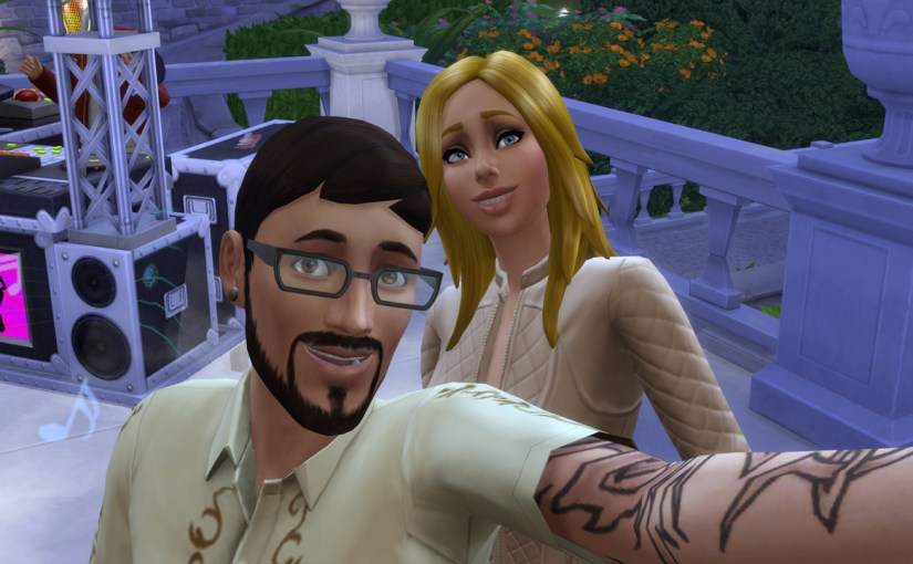 Andre DaSilva and Babs L'Amour take a selfie during a dance party at the Von Haunt Estate.