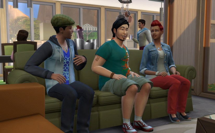 Ollie and Cassidy Purdue visit the Roomies Household in Oasis Springs.