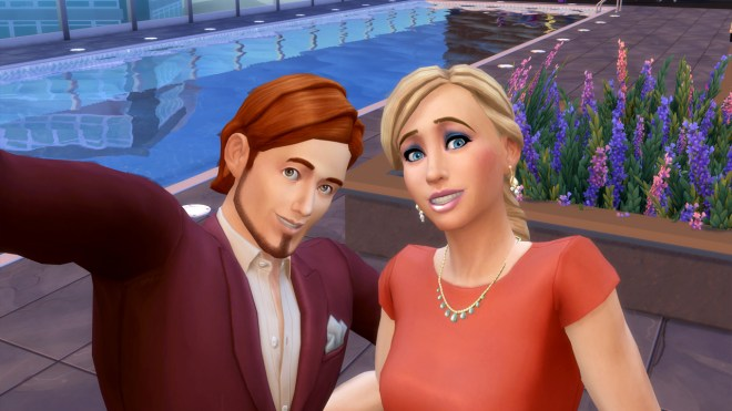 Randall Wood and Summer Holiday go on a date a Stargazer Lounge in San Myshuno.