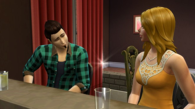 Spenser Ali flirts with Babs L'Amour.