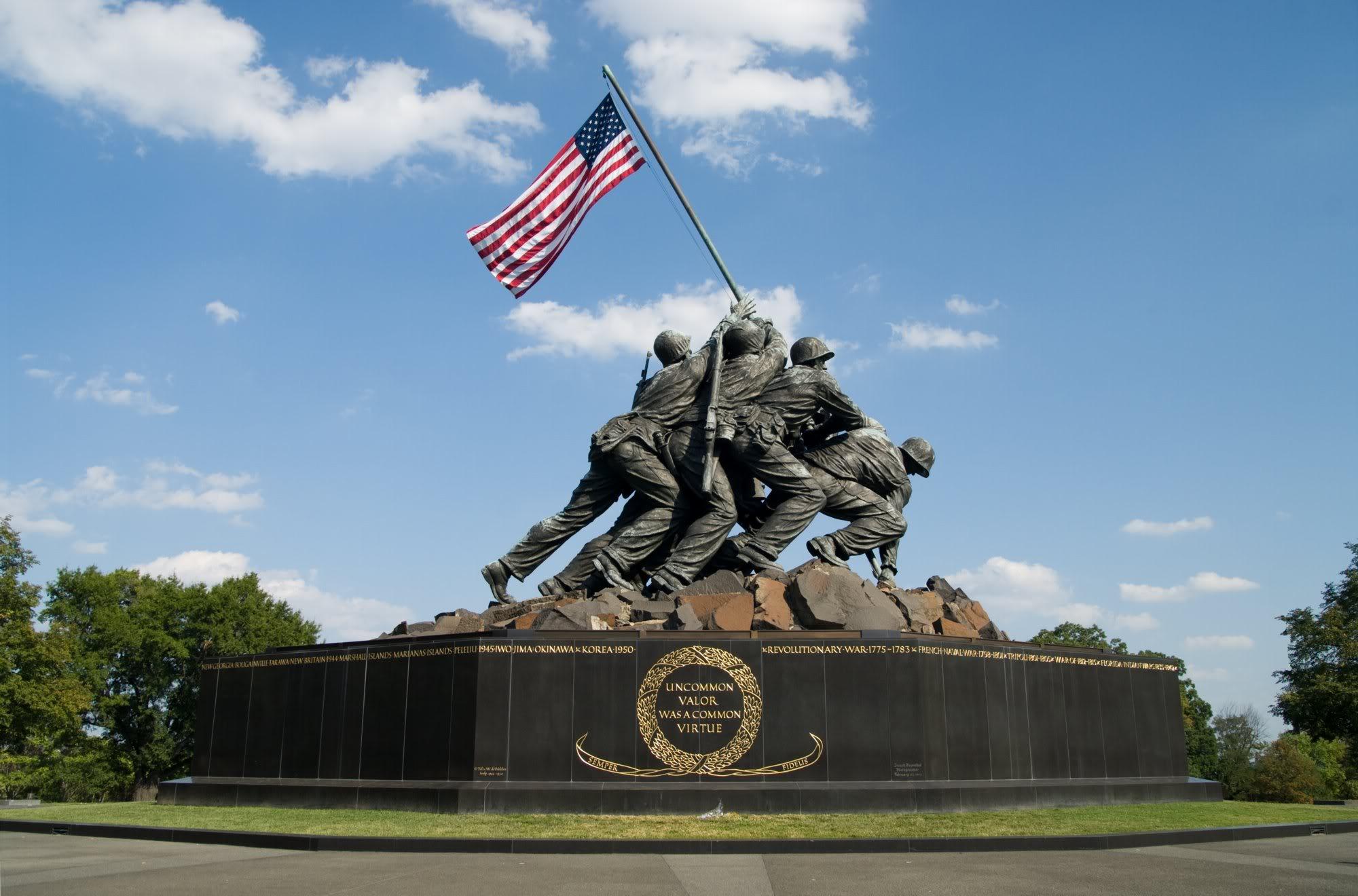 Image result for iwo jima memorial dc
