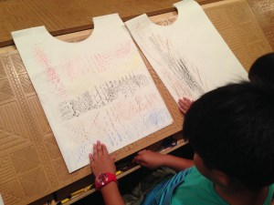 Showing the designs of the patterns on paper