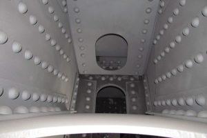 View of interior of Vertical Box Beam displaying White Metal Sandblasted Surface
