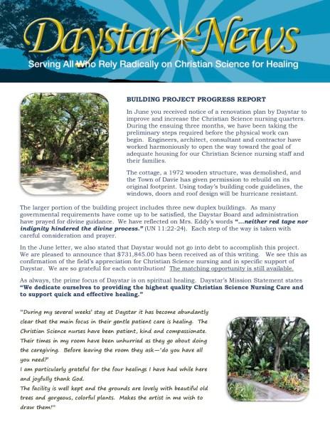 Daystar Fall 2018 Newsletter